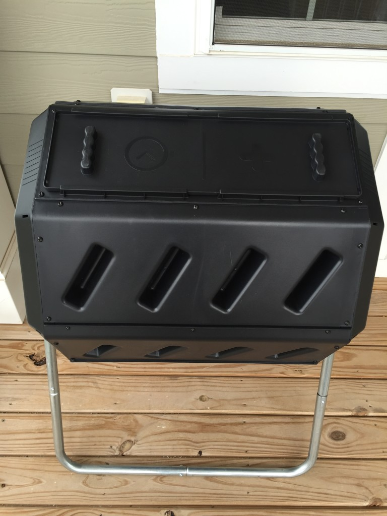 brand new assembled tumbling composter