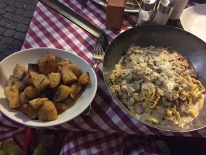 ristochicco fettucine and roasted potatoes