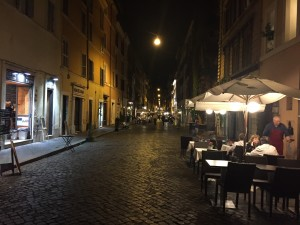 italian outdoor seating on roads
