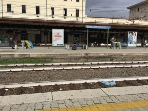 roma trastavere train station in rome