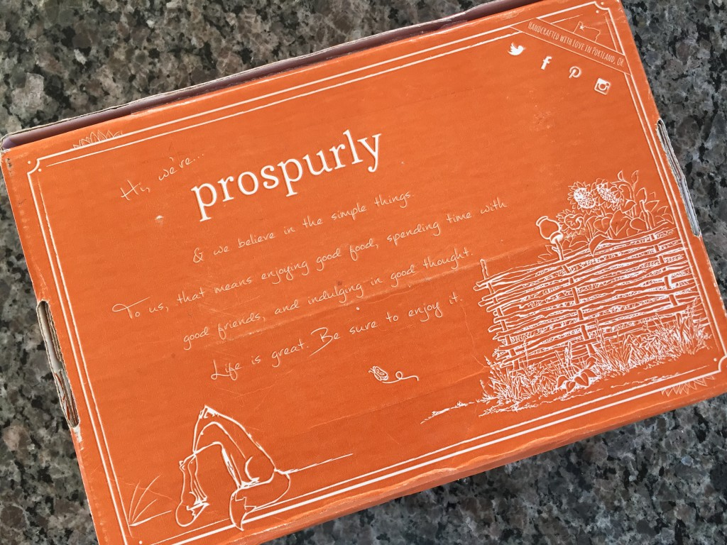 orange prospurly box with white words