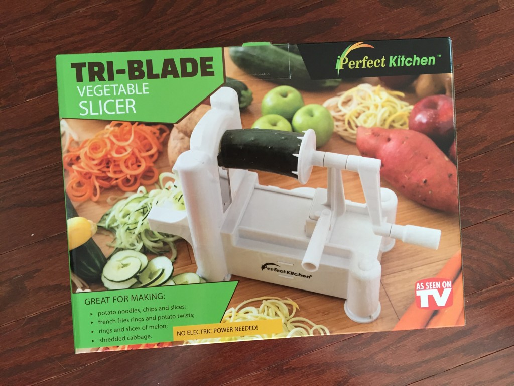 tri-blade spiralizer slicer box