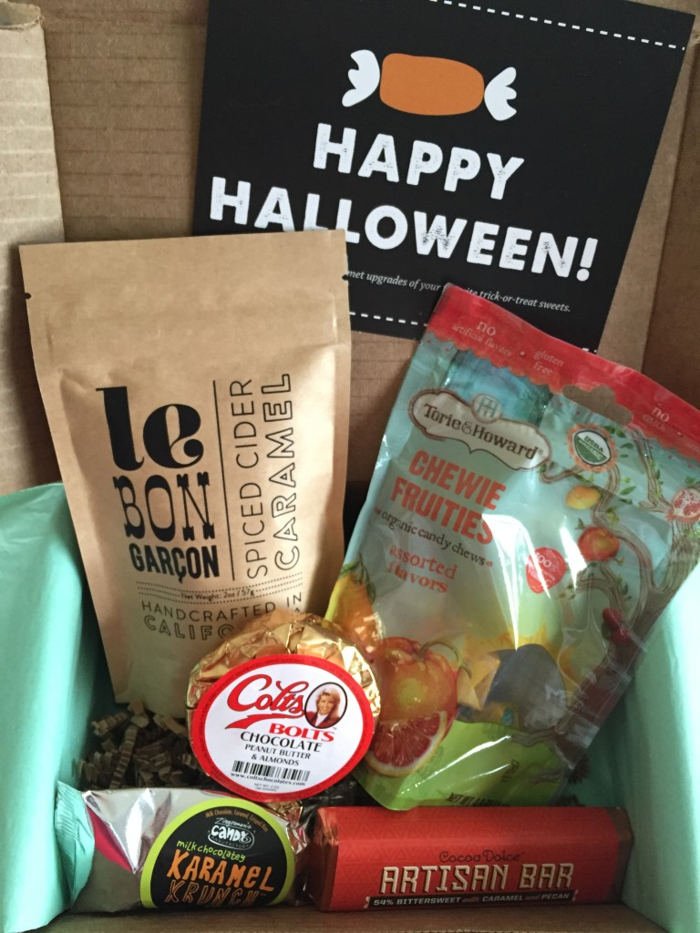 treatsie october 2015 box contents