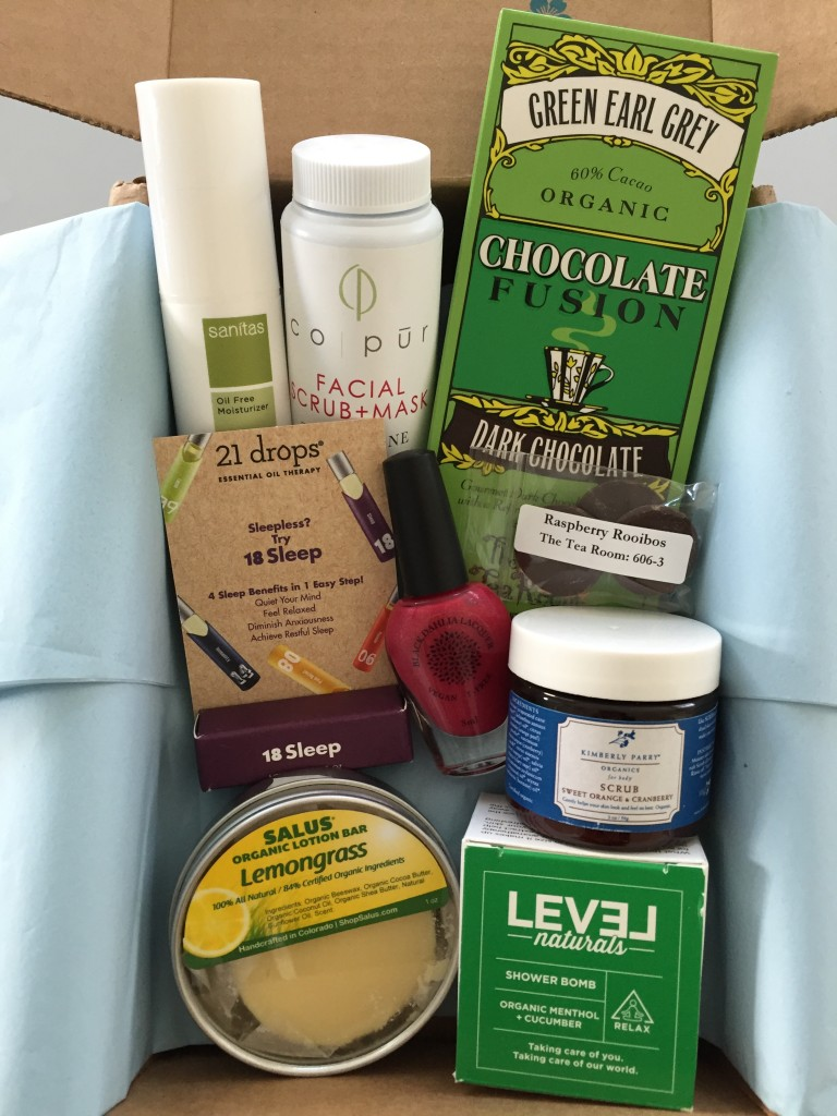 yuzen november-january 2015 winter box contents laid out