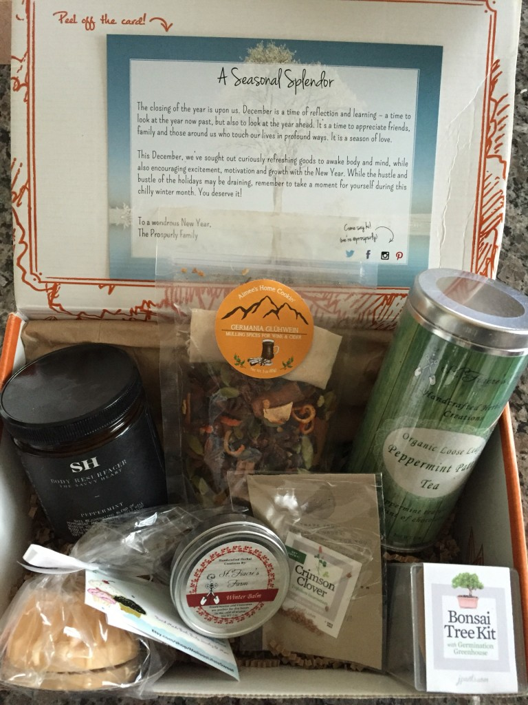 prospurly december 2015 box open with products showing