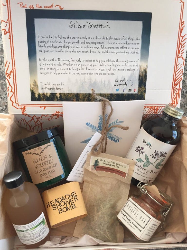 prospurly november 2015 box open with products showing