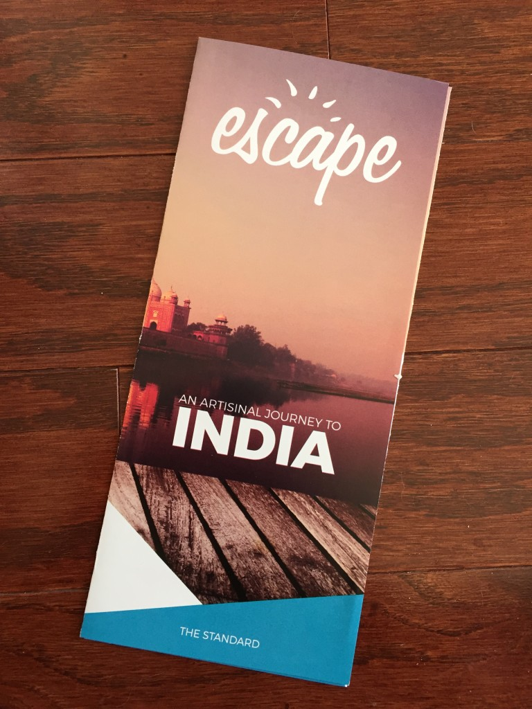 escape monthly january india box info card