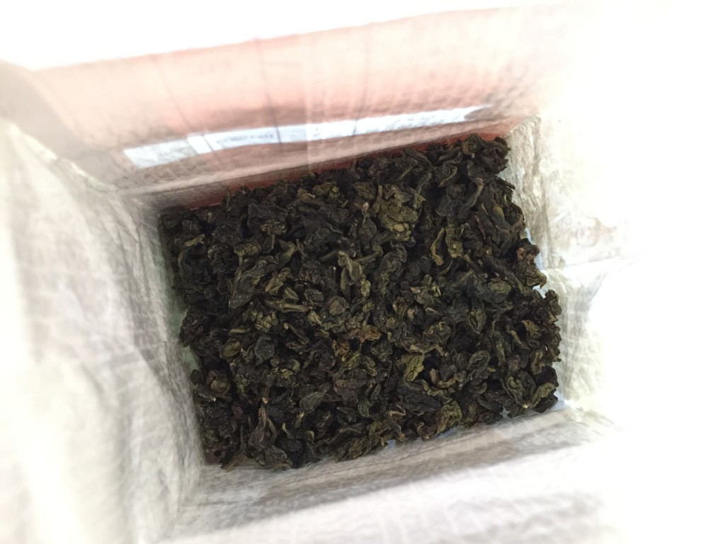 teavana monkey picked oolong tea sample in bag