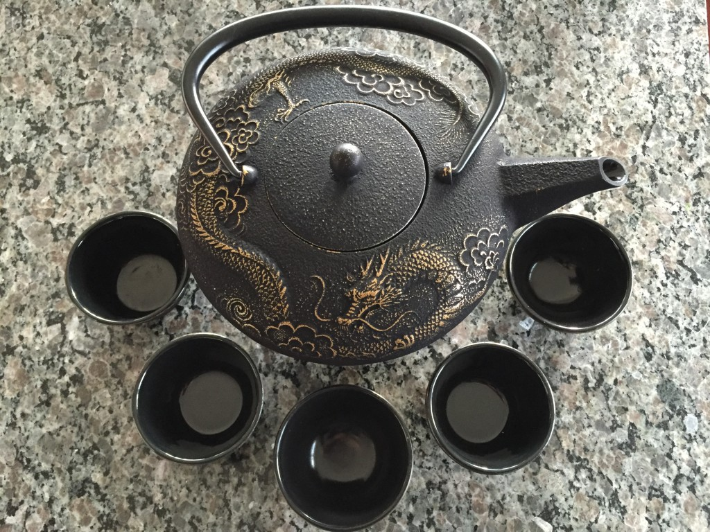 Teavana dragon tea set little fat notebook - Imperial dragon cast iron teapot ...