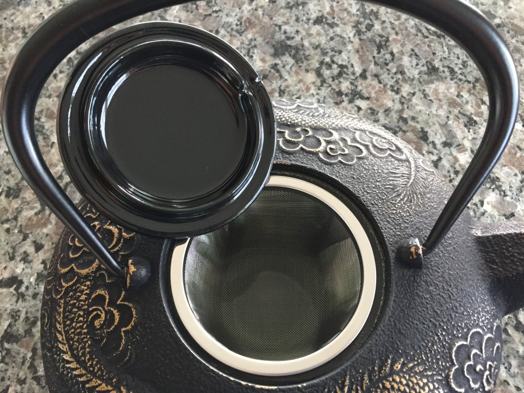 teavana imperial dragon cast iron teapot lid and strainer