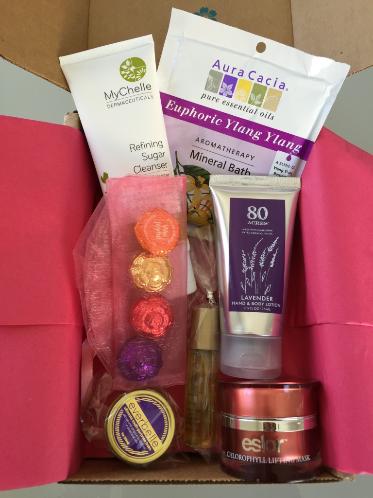 yuzen february-april 2016 spring box contents laid out
