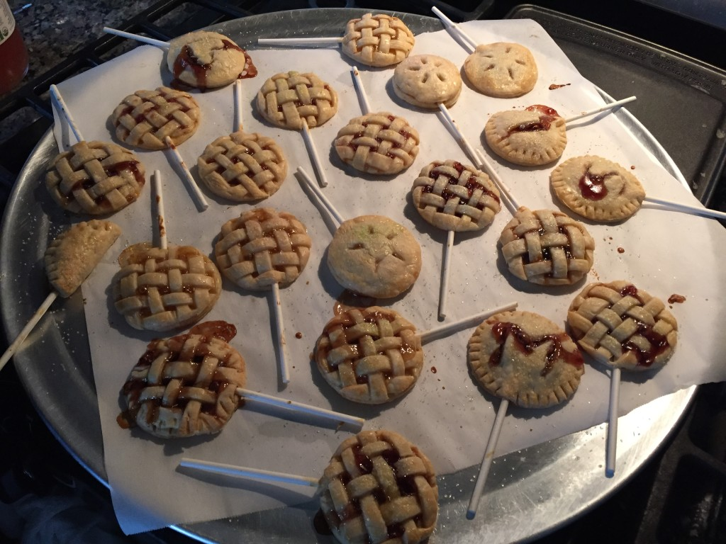 pie pops in oven baking