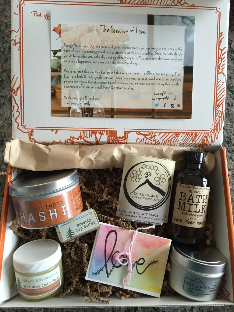prospurly february 2016 box open with products showing