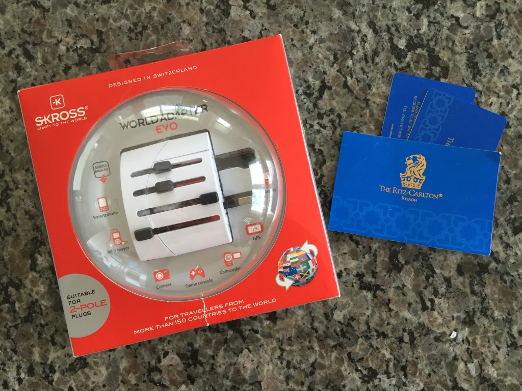 universal converter/world adapter gift from ritz-carlton