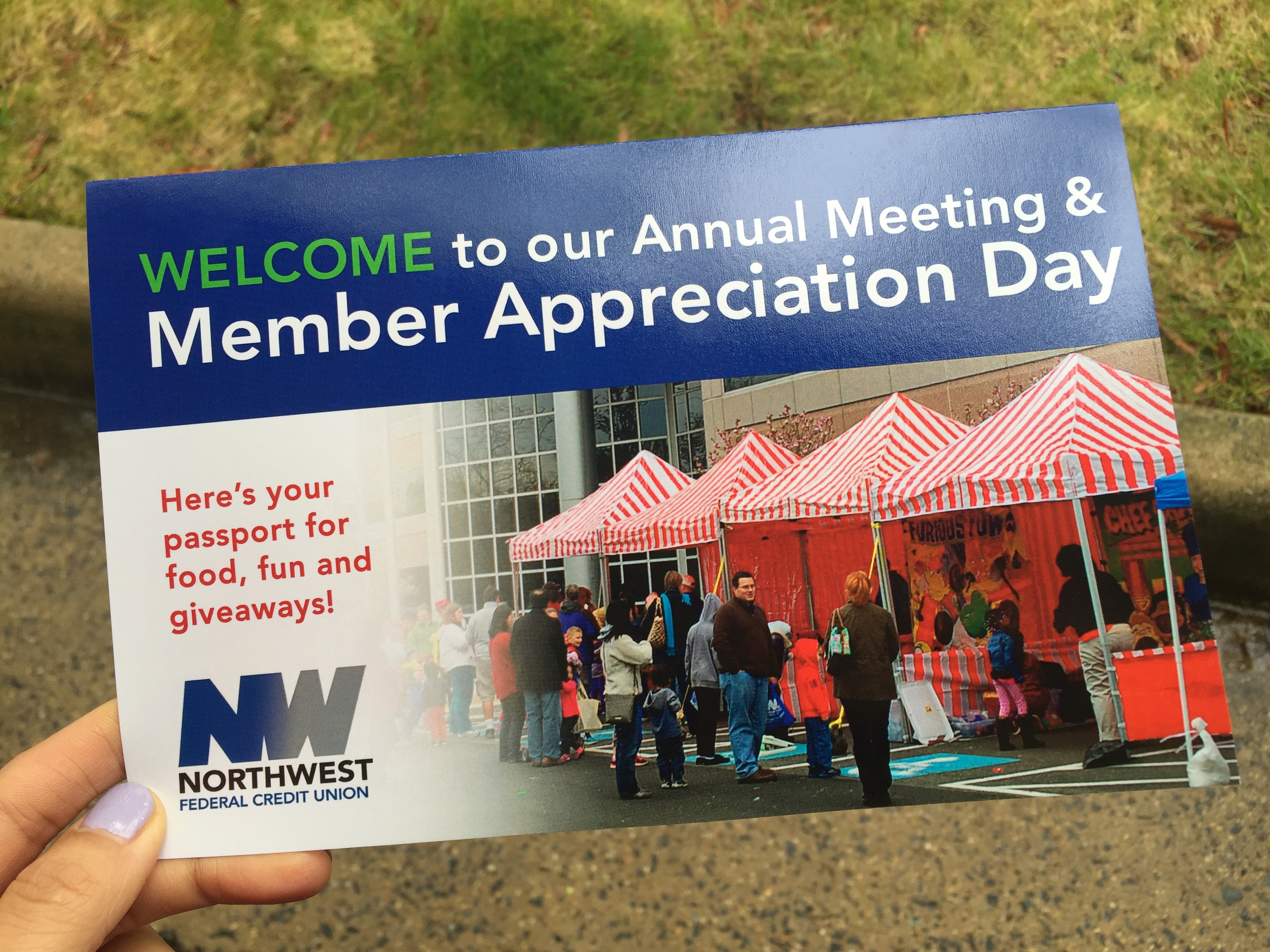 northwest federal credit union member appreciation day passport handout