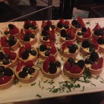 berry fruit tarts with strawberries, raspberries, blackberries, and blueberries