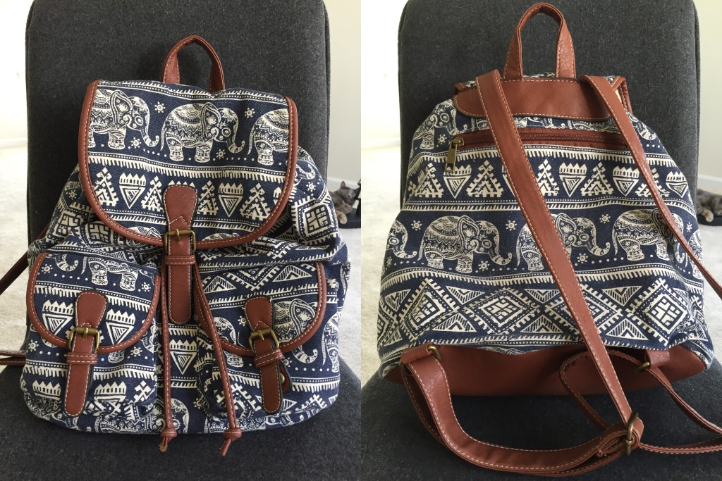 drawstring backpack with elephant design from split, croatia