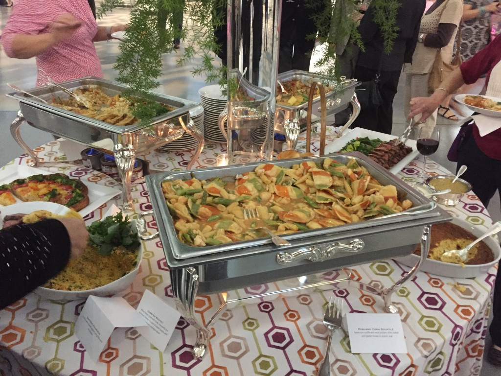 nasm volunteer appreciation night food table with lobster ravioli