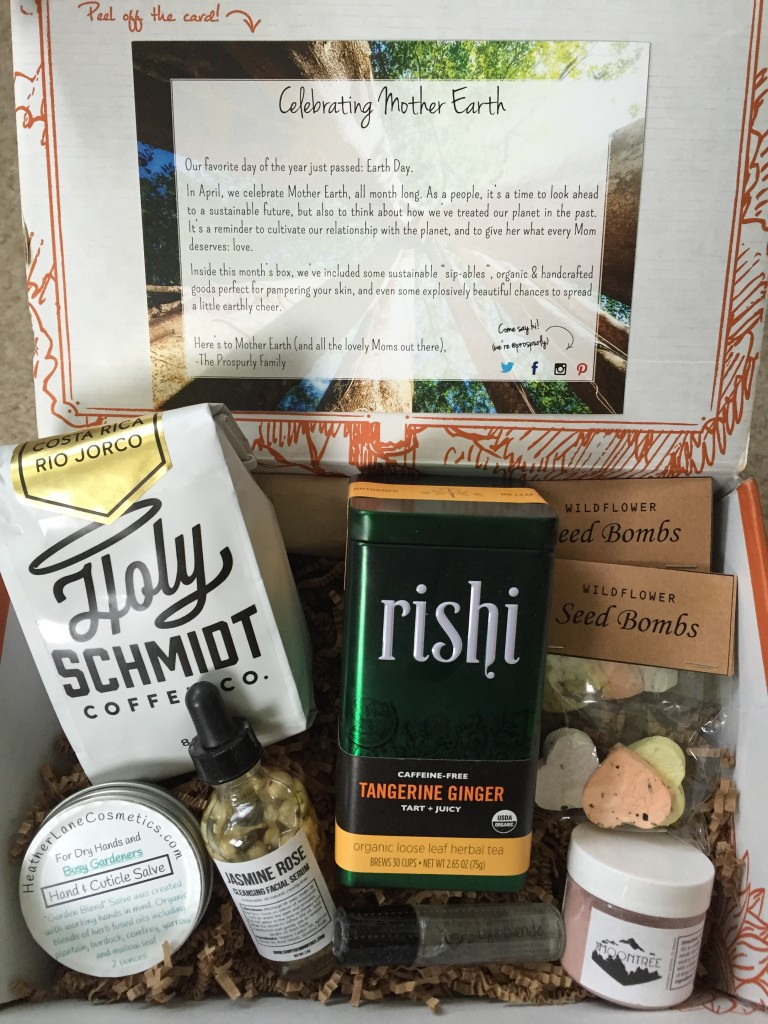 prospurly april 2016 box open with products showing