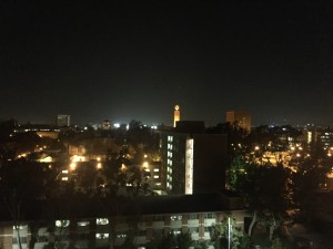 night view of usc campus from radisson hotel midtown