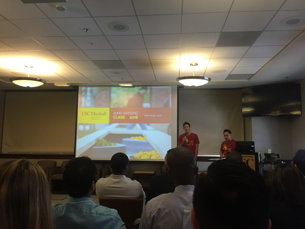 usc marshall admit weekend introduction