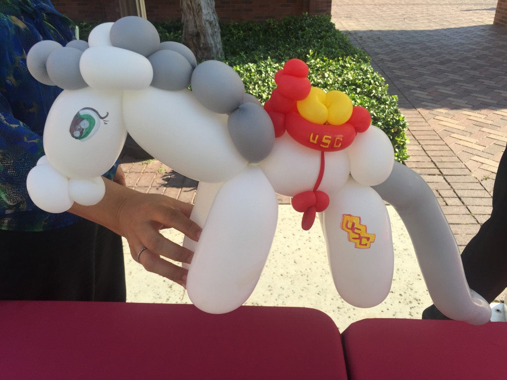 balloon animal usc trojan horse