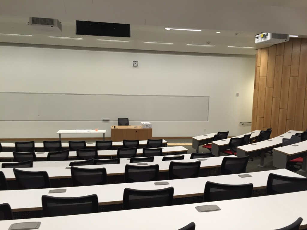 brand new lecture room in fertitta hall at usc marshall