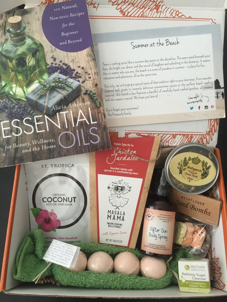 prospurly july 2016 box open with products showing