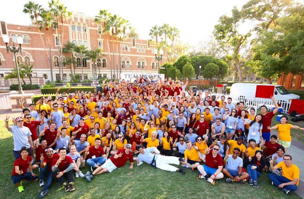 usc marshall mba tam day group photo