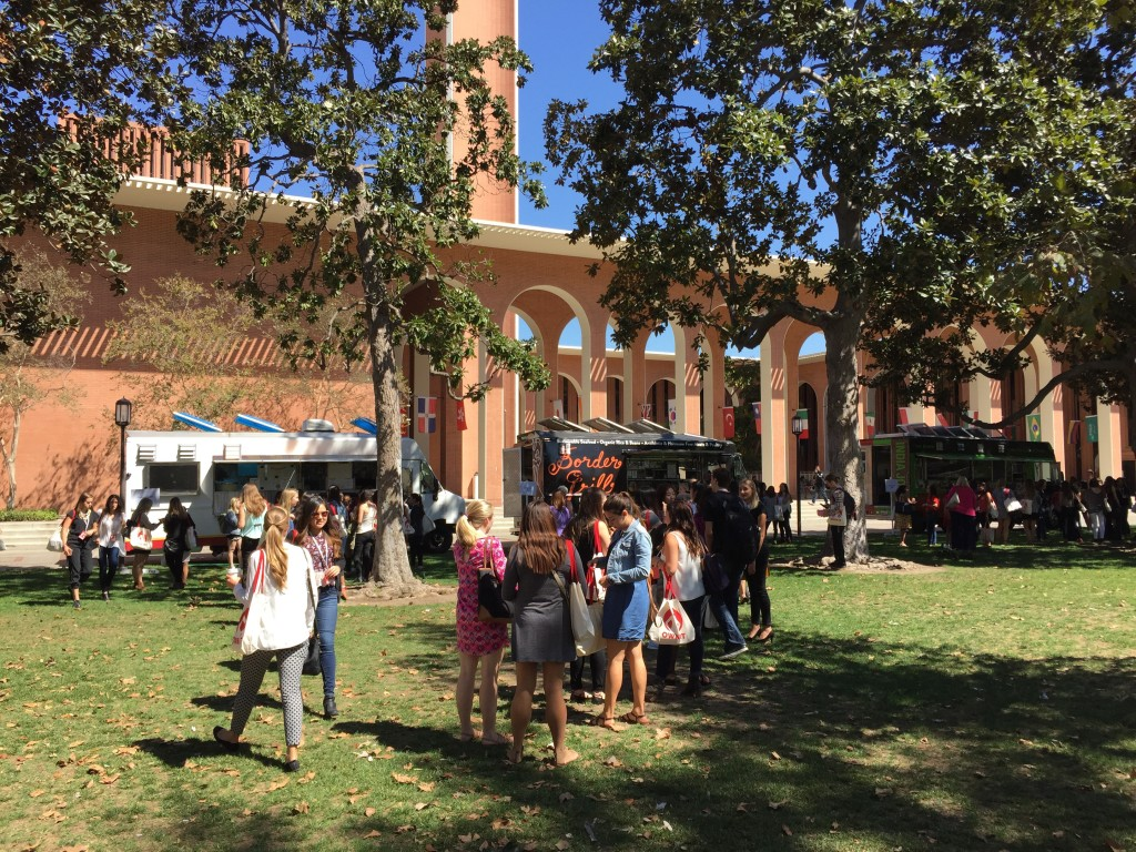 lunch trucks at usc own it 2016 conference