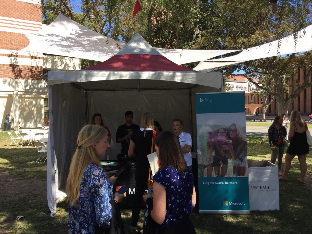 microsoft tent at usc own it 2016 conference