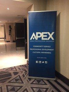 apex sign at leadership conference