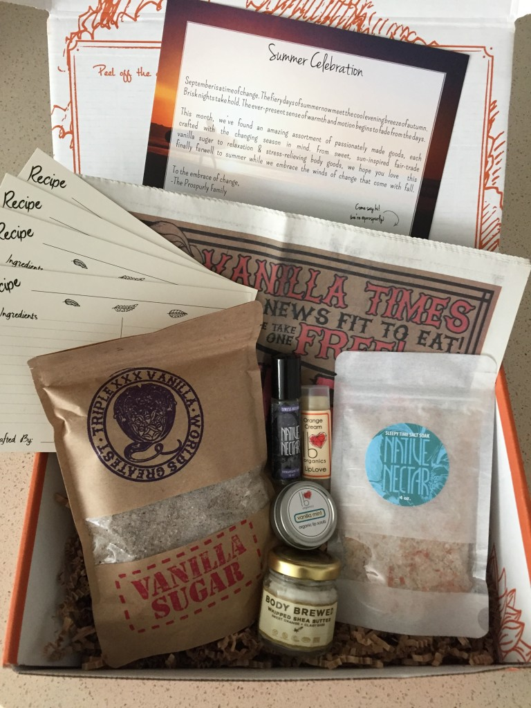 prospurly september 2016 box open with products showing