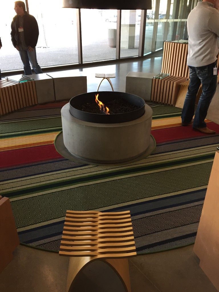 adobe headquarters indoor fire pit