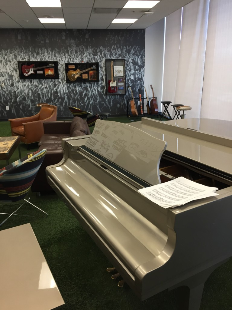 music room at adobe headquarters
