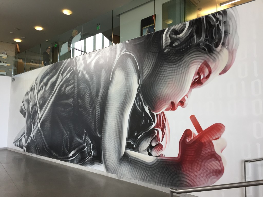 adobe headquarters spray paint art on wall