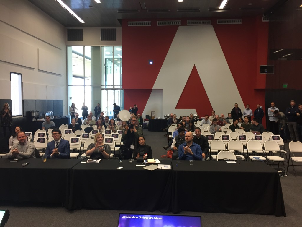 view from stage of adobe analytics challenge