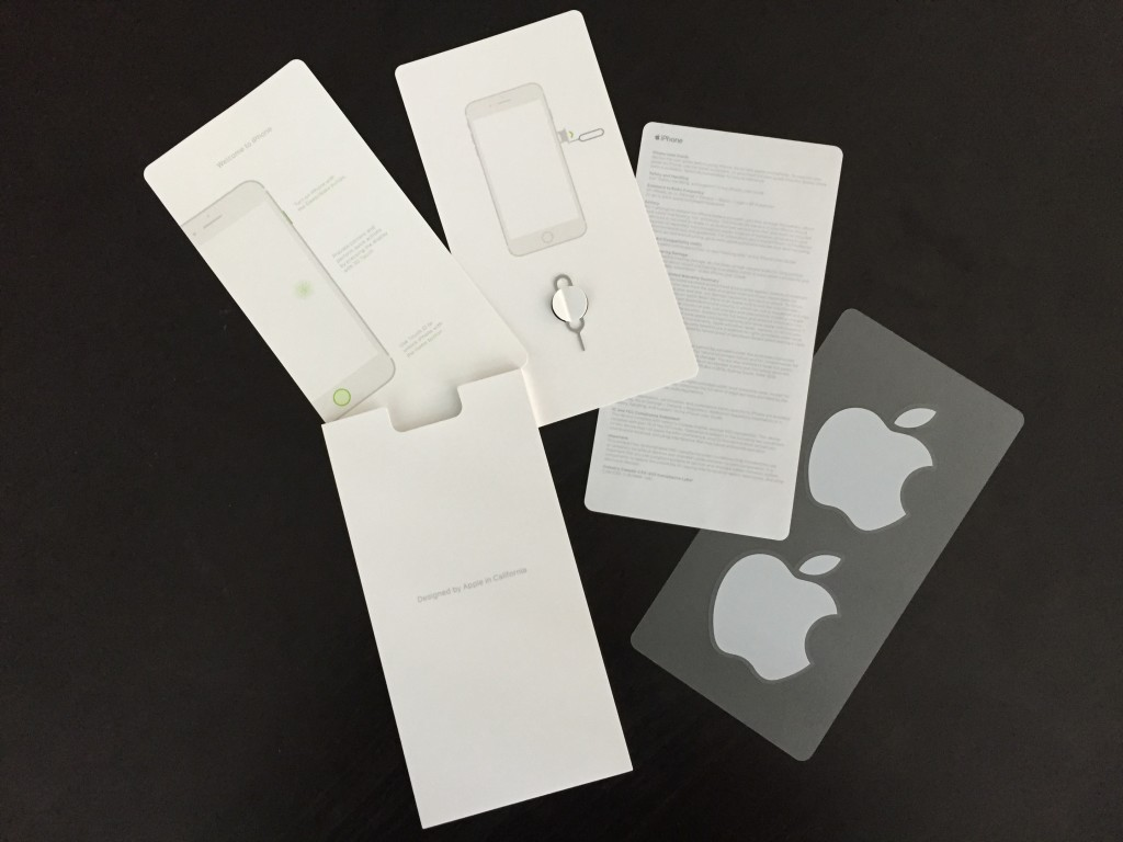 iphone 7 plus info sheets and apple stickers