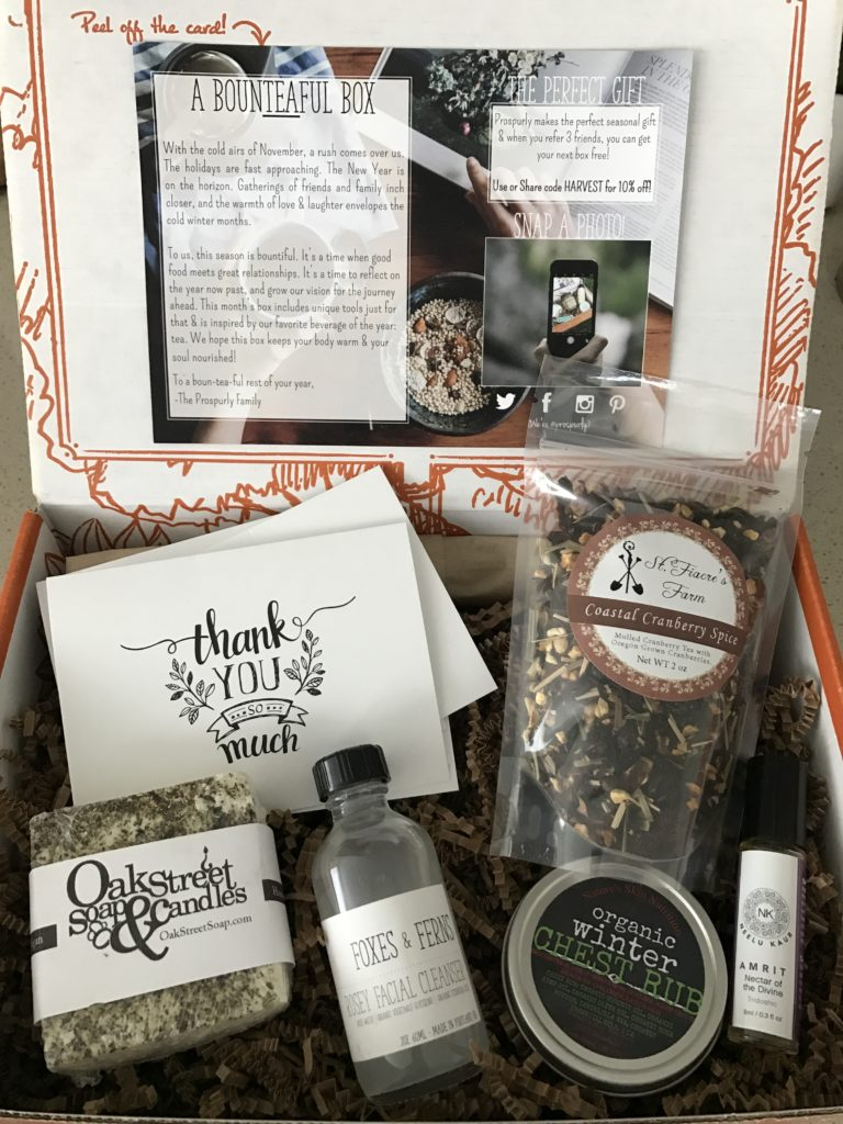 prospurly november 2016 box open with products showing