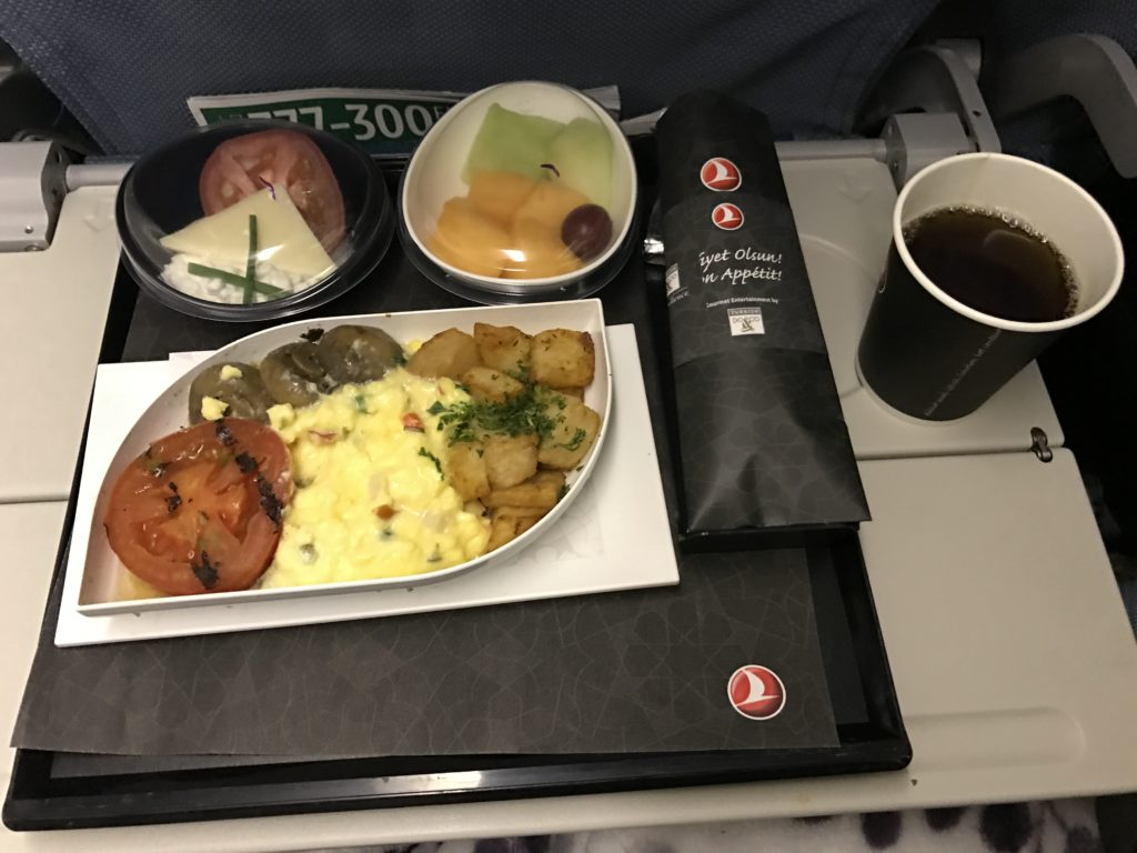 turkish airlines breakfast on plane