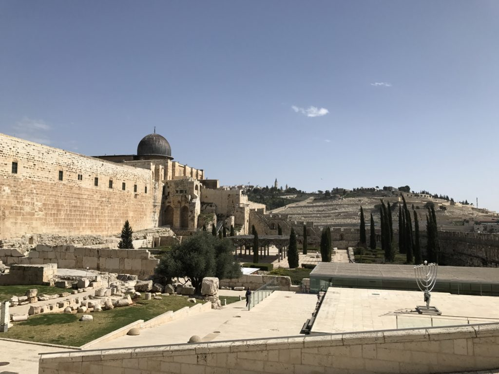 entrance area to western wall in jerusalem