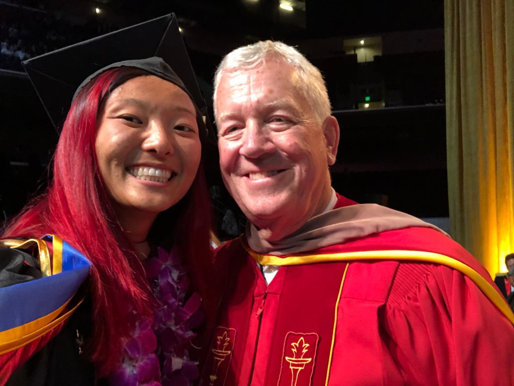 graduation selfie with dean ellis usc marshall business school